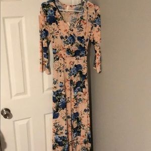 NWT maternity floral wrap maxi dress